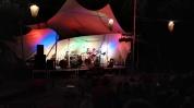 Zur Eröffnung der Songwriter Nacht auf der Peißnitz in Halle.. mit Volker am Bass und Toralf am Akkordeon